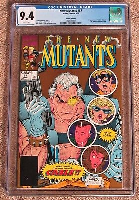 NEW MUTANTS #87 CGC 9.4 - 2nd Print Gold Cover - 1ST appearance of CABLE