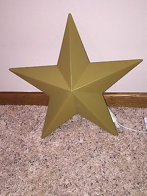 """Rare Vintage 14"""" Christmas Grand Venture Lighted Blow Mold Gold Nativity Star"""