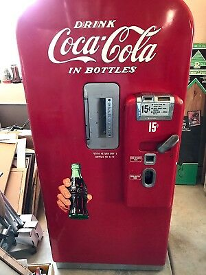 Vintage Vendo Coca Cola Vending Machine With Lots Of Memorabilia Included