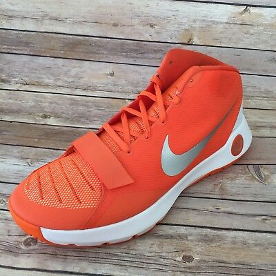 online store d73ee 6be7e Nike KD Trey 5 III Kevin Durant Shoe Mens Size 18 Orange Silver White  812950-