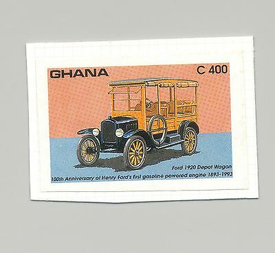 Ghana #1556 Automobile, Ford 1v Imperf Proof on Card