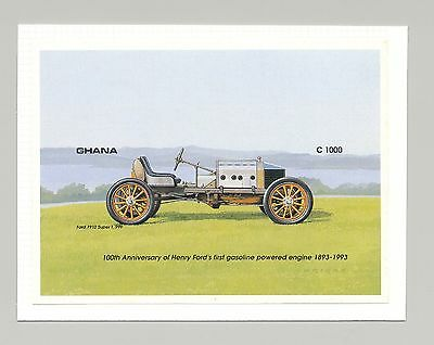 Ghana #1566 Automobiles, Ford 1v S/S Imperf Proof Mounted on Card