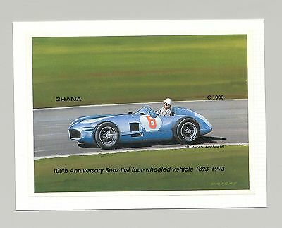 Ghana #1563 Automobiles, Mercedes Benz 1v S/S Imperf Proof Mounted on Card
