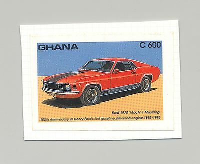 Ghana #1559 Automobile, Ford 1v Imperf Proof on Card