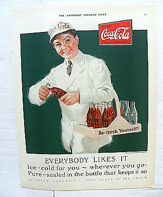 "1925 Sept.25 Saturday Evening Post ""everybody Likes It"" Vending Boy Serving"