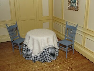 Dollhouse Miniature Kitchen or Restaurant Table w Chairs  by R. Betterley