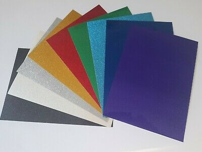 A4 Self Adhesive Glitter Sparkle Vinyl (Sticky Back Plastic Decals & Signs)