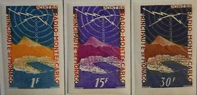 MONACO 1951 450 U non dentele Radio Monte Carlo COLOUR PROOF ESSAY MNH
