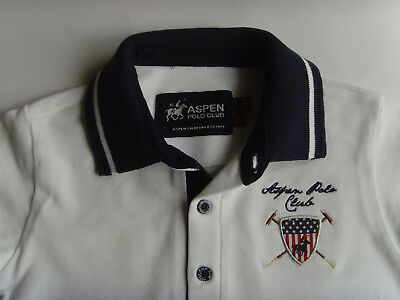 Polo-Shirt - weiss - Luxus Marke - Original ASPEN Polo Club Colorado - Gr.30M/92