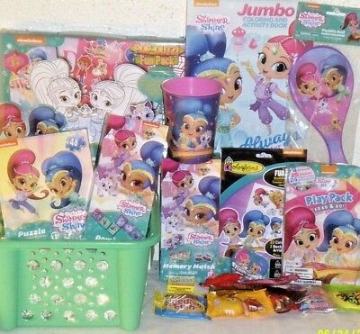 New Shimmer Shine Kids Easter Toy Gift Basket Books Art Toys Play Set Puzzles