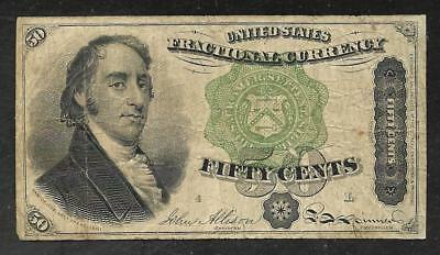 US Fractional Currency - 50 Cent Note - 1863 - FINE+