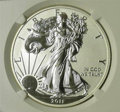 2011 P NGC PF70 Reverse Proof Silver Eagle from 25th Set Low Mintage only 100K