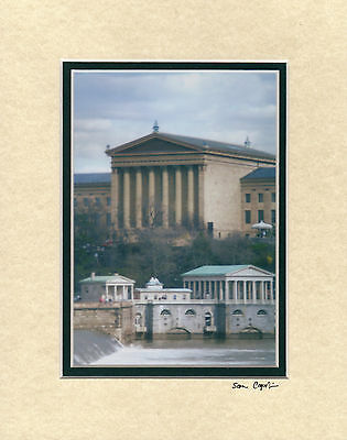 Famous Philadelphia Art Museum And Water Works  5 X 7 Photo Matted In An 8 X 10