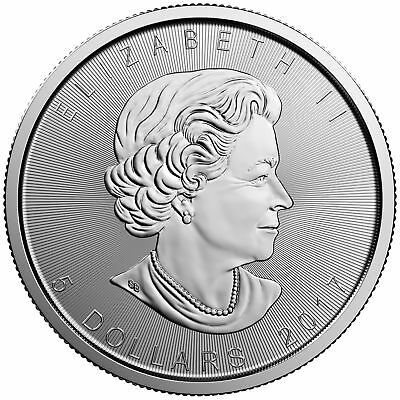 CANADA $5 Dollars 2017 (MAPLE LEAF) SILVER 1oz coin (.9999) NEW IN CAPSULE
