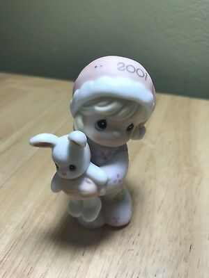 Precious Moments girl with bunny 2001 annual 877514
