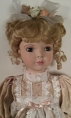 "Seymour Mann 17"" Porcelain Doll Dusty Rose Outfit Blonde Connoisseur Collection"