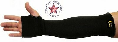 USA Made With Kevlar Knit Welding sleeves, Black Pair Good For Grinding Too, 18""