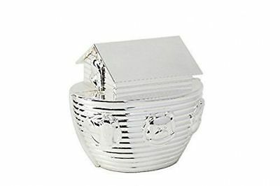 Silver Plated Baby's Noah's Ark Money Bank Box New Baby Christening Gift LP24926