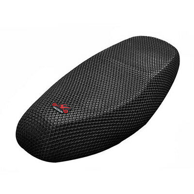 Black Motocycle Scooter Breathable Mesh Net Seat Saddle Cushion Cover Protector