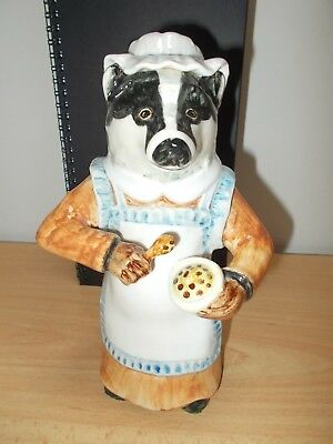 """Rare """"mrs. Badger"""" Cinque Ports Pottery Rye 8"""" Figure - Country Gentlemen Series"""