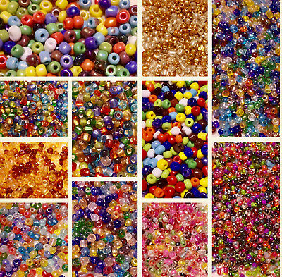 Small Glass Seed Beads Beads 2mm size 30g bag Choose Your Colour