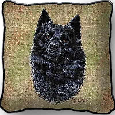 "17"" x 17"" Pillow - Schipperke by Robert May 3378"