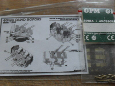 GPM Bausatz 40 mm Quad Bofors Flak in 1:200 inkl. Rohre