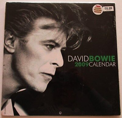 David Bowie  2009 Calender + Large Poster Mint Condition Still Sealed