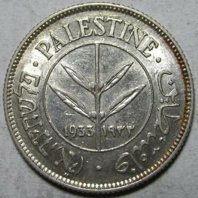 Palestine, 50 Mils, 1933, Extra Fine+, .135 Ounce Silver