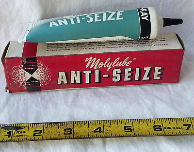 Vintage Tube of Molylube Anti-Seize Bel-Ray Lubricant Unopened w/ Box 1970's NOS