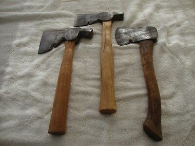 Lot Of 3 Vintage Hatchets Plumb, True Temper No. TL, Stanley