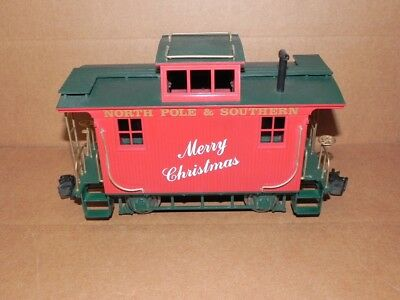Bachmann G Scale Merry Christmas Bobber Caboose, North Pole & Southern
