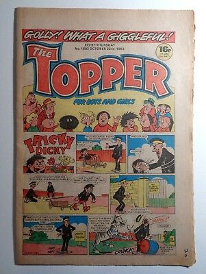 The Topper Comic No.1603 22nd October 1983 D.C. Thomson Cartoon Humour