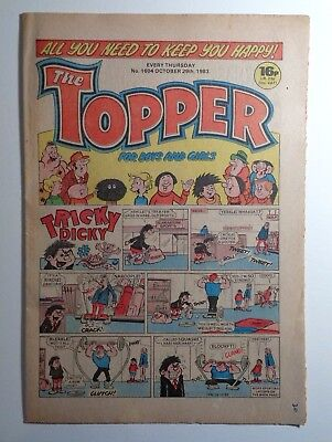 The Topper Comic No.1604 29th October 1983 D.C. Thomson Cartoon Humour
