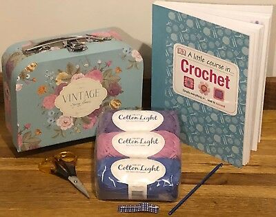 New Beginner Learn To Crochet Kit + A Little Course In Crochet Book 6 Box Styles