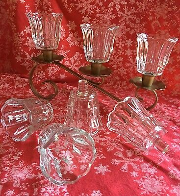 VTg 7 STARLIGHT Clear VOTIVE CUPS CANDLE HOLDER Homco Home Interior peg USA