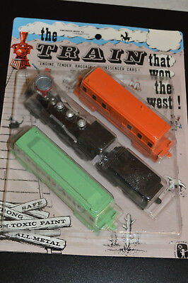 VINTAGE midgeTOY TRAIN-THE TRAIN THAT WON THE WEST  NEW IN PACKAGE COLLECTIBLE