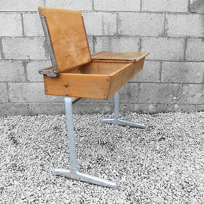 Old Mid Century Double Twin Vintage Industrial School Desk Adult Laptop Office