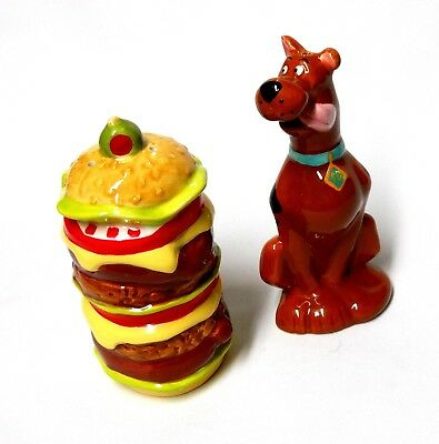 Hanna Barbera Cartoon Scooby Doo Dog & Large Sandwich Salt & Pepper Shaker Set