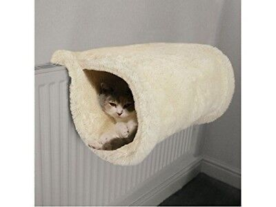 Rosewood Hanging Cat Kitten Radiator Plush Bed Basket Tunnel Cream 45 Cm