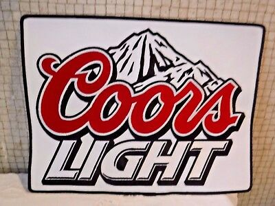 "Coors Light Beer GIANT Sew On Cloth Patch- UNSED NEW About 9""x12"" BRIGHT  Colors"