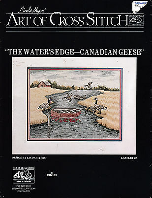 Linda Myers The Water's Edge Canadian Geese Counted Cross Stitch Pattern