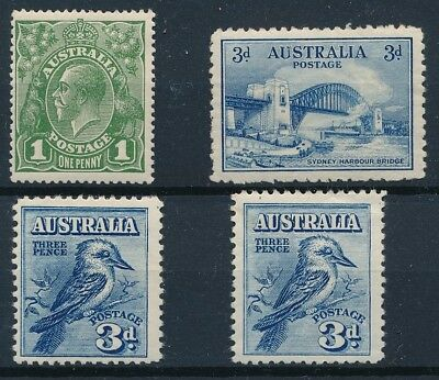 [36643] Australia Good lot of Very Fine MH stamps