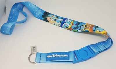 Disney Parks Mickey Mouse & Friends WDW Goofy Donald Pluto Pin Lanyard - NEW