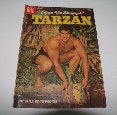 Tarzan Comic Book Jan. 1958 #100 The Rifle of Tippoo Tib, Dell Pub., Good / VG
