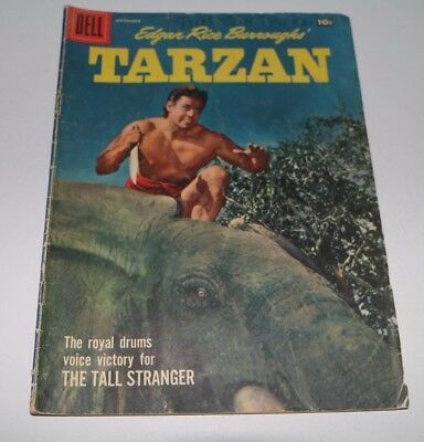 Tarzan Comic Book Sept. 1957 #96 The Tall Stranger, Dell Comics, Good
