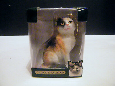 Limited Edition Collector's Series Calico Shorthair Cat Figurine/ornament Nib