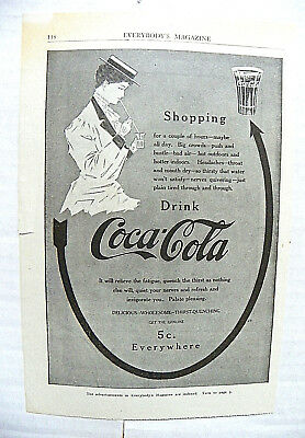 "1908 June Everybody's ""shopping For A Couple Of Hours"" Arrow - Woman To Glass"