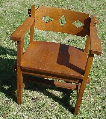 Antique Mission Style Oak Chair  Quarter Sawn  Arts & Crafts *OHIO pick up only*