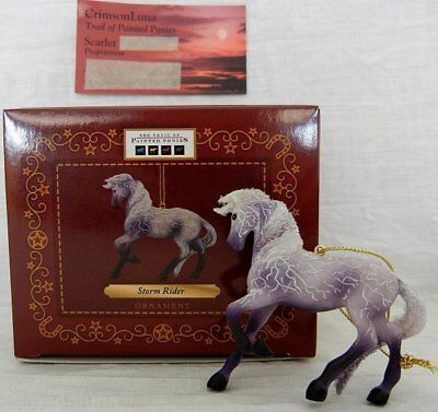 "Storm Rider ORNAMENT 3.0"" Tall 2014 Trail of Painted Ponies Purple Lightning"